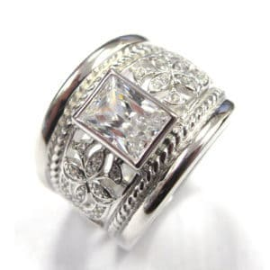 Sterling Silver 925 c/z Ladies Ring