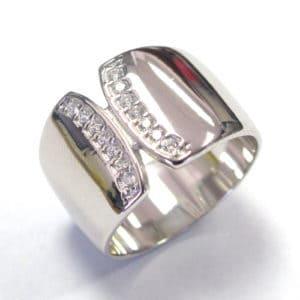 Sterling Silver 925 c/z Ladies Dress Ring