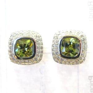 Sterling Silver 925 c/z Gem Stud Earrings