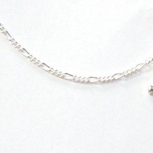 Sterling Silver 925 Figaro Link Anklet