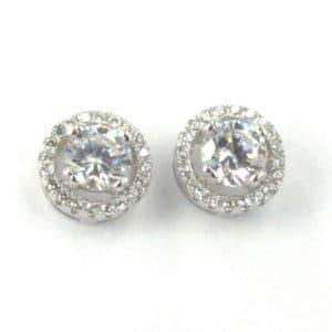 Sterling Silver 925 c/z Stud Earrings