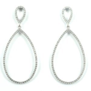 Sterling Silver 925 c/z Drop Earrings