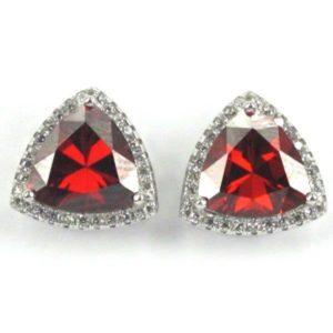 Sterling Silver c/z Gem Stud Earrings