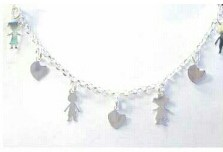Sterling Silver 925 Kiddies  Bracelet with Assorted  Charms