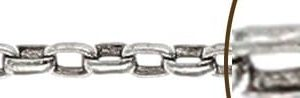 Sterling Silver 925 Oval Link Rolo Chain  (Price.On.Enquiry)