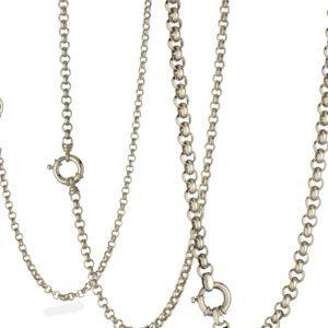 Sterling Silver 925 Rolo Belcher Chain 13.5mm Width & 45cm Length
