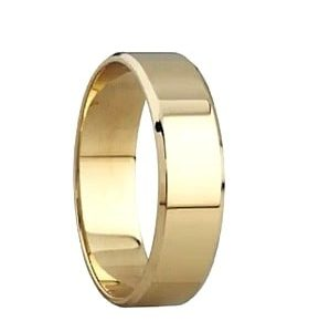 9ct Yellow Gold 4mm Bevelled Edge Wedding Bands