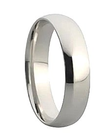 9ct 375 White Gold 2mm Wedding Band