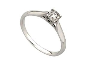 9ct 375 White Gold  Diamond Ring Sets up like 0.25ct  Illusion Set Solitaire