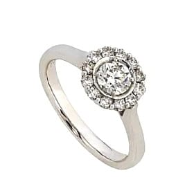 18ct 750 White Gold Diamond Cluster Ring TDW:0.24ct