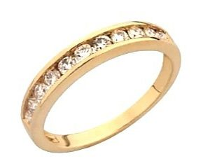 9ct 375 Rose Gold Channel Set Diamond Eternity Ring TDW:0.20ct