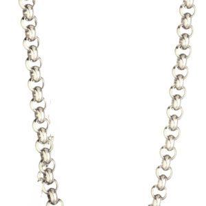 Sterling Silver 925 Rolo Belcher Chain 16.5mm Width & 60cm Length