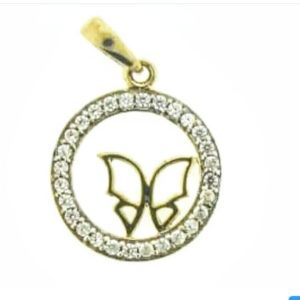 9ct 375 Yellow Gold Cubic Zirconia Circle Of Life Pendant